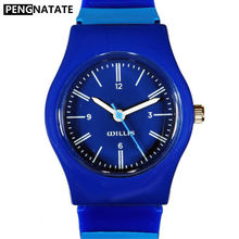 WILLIS Men Watches Blue Stripe Small Size Watch For Children Fashion Analog Waterproof Silicone Strap Gift Wristwatch PENGNATATE(China)