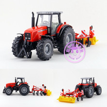 Siku 1:32/Diecast Toy Model/Massey Fergoson MF 8280 Tractor and Ploughing Machine/For Children's Gift/Educational/Collection/Big