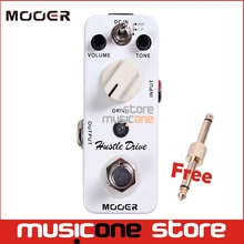 MOOER Micro Hustle Drive Distortion effect guitar pedal Tube-like Drive sound Guitar Pedal Compact with Free Connector