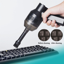 Mini Portable Vacuum Cleaner USB Handheld Computer Keyboard Dust Brush Cleaning Tool For PC Desktop Car Clean Brush