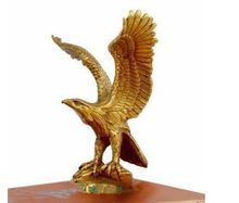 Chinese Small Brass Statue EAGLE/Hawk Figure figurine