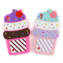 3D Cute Cartoon Case For LG X Power K220DS K220 / K8 2017 X300 M200N Cherry Cupcakes Ice Cream Shaped Silicon Case Cover(China)