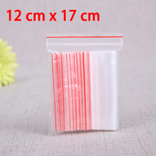 100 Pcs 12x17cm Ziplock Lock zipped Poly Clear Bag Plastic 2 Mil Food Storage Bags Thick Transparent Packaging Bags