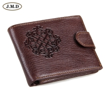 8018Q New Men Genuine Leather Man Wallet Arrival Brand Design Purse Short Design Wallet Cowhide Purse Chocolate Color