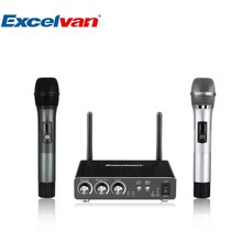 Excelvan K28 Karaoke Microphone Dual Wireless Microphone Mini Portable Wireless Bluetooth Microphone For PC Speaker Outdoor KTV