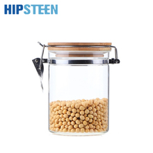 HIPSTEEN 850ML Food Storage Container Airtight Easy Lock with KKC Metal Buckles and Bamboo Lid Super High Quality