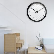 Airinou Circle Round Large Brief Black Metal Frame Men Women Office Home Family Simple Wall Clock(China)