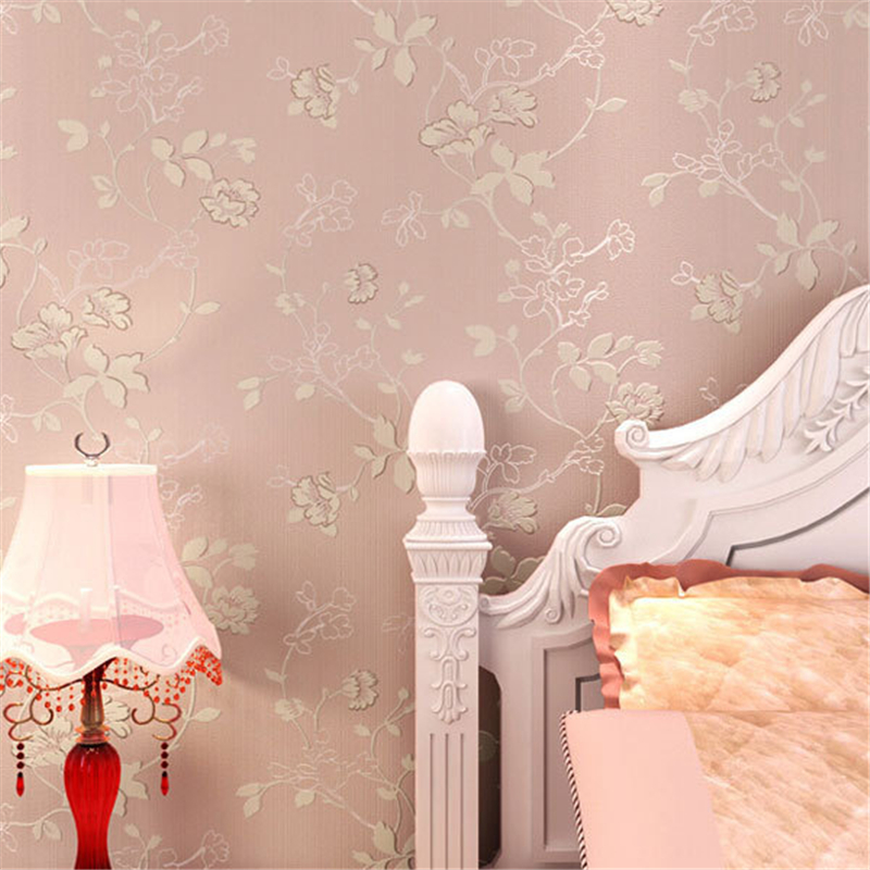 beibehang Simple Pastoral Style Floral Wallpaper roll 3D Room Decor Mural Wall Decals Fresh Textile Non-woven Wallpapers Sofa<br>
