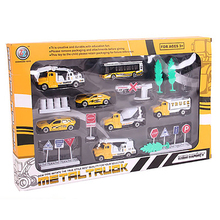 6Pcs Set Diecast 8Cm  Alloy Toy Car Model Truck Autorama Brinquedo Construction Vehicle/Buses Toy Gift For Boy Children