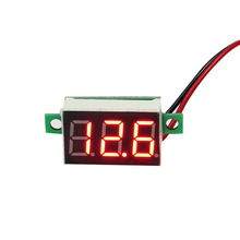2pc LCD digital voltmeter ammeter voltimetro Red LED Amp amperimetro Volt Meter Gauge voltage meter DC Wholesale(China)