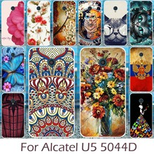 Akabeila Silicon Cases Covers For Alcatel U5 4G 5044D 5044Y Phone Cover Soft TPU Shell DIY Painted