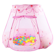 Large Princess Tent for kids Cute Play House Baby Ocean Ball Pool Pit Indoor Outdoor Kids Girls Play Tent Toy Gifts