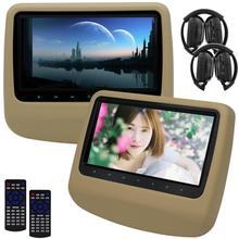 Eincar Car DVD Player Headrest HD Video Wide View Capacitive Screen Auto Monitor Support USB SD FM IR+Include Wireless Headphone