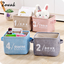 Vintage Cotton Linen Storage Basket  Kitchen Bathroom Organizer Toy Container Home Box Jewelry Stackable Bin Table Laundry Bag