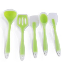 NEW!!!5pcs Silicone Kicthen Cooking Spatula-Cooking Spoon Soup Ladle-egg Turner Kitchen Tools Set Silicon Baking Set Utensil Set(China)