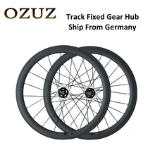 OZUZ Ship From Germany 700C 38mm 50mm Clincher Tubular Bicycle Racing Track Single Speed Wheelset Track Fixed Gear Carbon Wheels