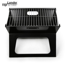 Folding Charcoal BBQ Qrill Grilling BBQ Tools Thickened Black Steel Cooking Carbon Camp Stove Toaster Barbecue Grill for Outdoor(China)
