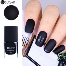 UR SUGAR 6ml Black Matte Dull Nail Polish Lusterless Manicure Nail Art Polish Varnish Lacquer(China)