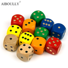 30 mm wooden model dice game making all sorts of design color The child's Christmas present