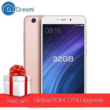 Dreami Original Xiaomi Redmi 4A 2GB RAM 32GB ROM Snapdragon 425 Quad Core 5.0 Inch 3120mAh Battery 13MP Red Rice Cellphone 4 A