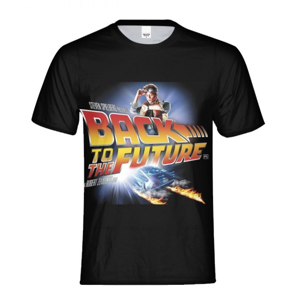 2018 Back to the future 3D T-shirt Clock countdown Men Sleeve Summer Tops Tees T shirt Male cool Mens plus size Hip Hop Clothes