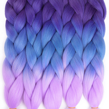 "Refined 24"" 100g/pack 2 3 4-tone  Ombre Kanekalon Jumbo Braids Hair Extensions Synthetic Crochet Braiding Hair Bulk 1packs/Lot"