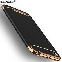 KaiNuEn luxury black hard plastic phone coque cover case for xiaomi redmi 4a 4 a original 3 in 1 back cover for redmi 4a cases