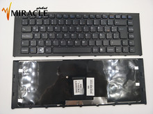 Notebook keyboard for Sony for Vaio PCG-61211L PCG-61211M LA/SP Latin version with black frame wholesale price
