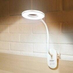 Перезаряжаемая USB светодиодный лампа для чтения книг, гибкий светодиодный светильник, настольная сенсорная вкл/выкл 3 уровня, затемняемая Н...