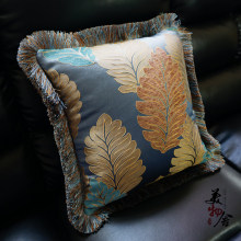 Luxury Flannelet Leaves Embroidery Customize Pillow Case Wedding Sofa Chair Bedding Hotel Decorative Cushion Cover Pillowslip(China)