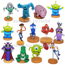 13PCS Toy Story Woody Jessie Monsters University Mike Sulley Boo Cute Finding Dory Figures Kids Toys Dolls Children Gifts
