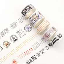 1.5/3cm*8m Vintage Postmark washi tape DIY decoration scrapbooking planner masking tape adhesive tape label sticker stationery