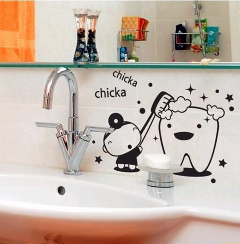 Рисунок на стенах в ванной своими руками 931
