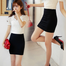 Buy 2017 Summer Women's Career Formal Skirts Plus Size XXXL Girls Elasticity High Waist Mini Skirt Ladies Solid Black Pencil Skirts for $13.79 in AliExpress store