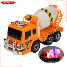 2016 Newest Truck Cement Mixer Project Team Cement Mixer 6 wheel Agitator Truck Engineering Carrier Vehicle electronic toys