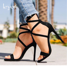 Buy Women Sexy High Heel Sandals Ankle Strap Shoes Summer Ladies Sandals Open Toe Gladiator Shoes Heels Sandals Fetish New