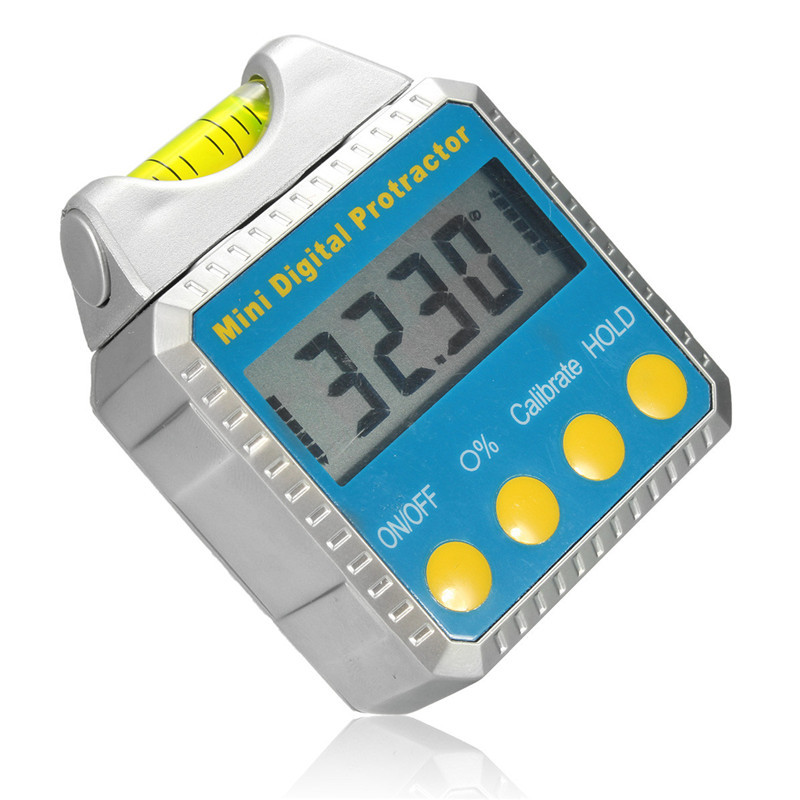 Digital Inclinometer Spirit Level Protractor Angle Gauge Meter Horizontal Bevel Small And Portable Design LCD Display(China)