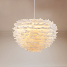 Flower drop wind droplight foyer bedroom dinning living room Modern feather chandelier white fashion chandelier hanging light(China)