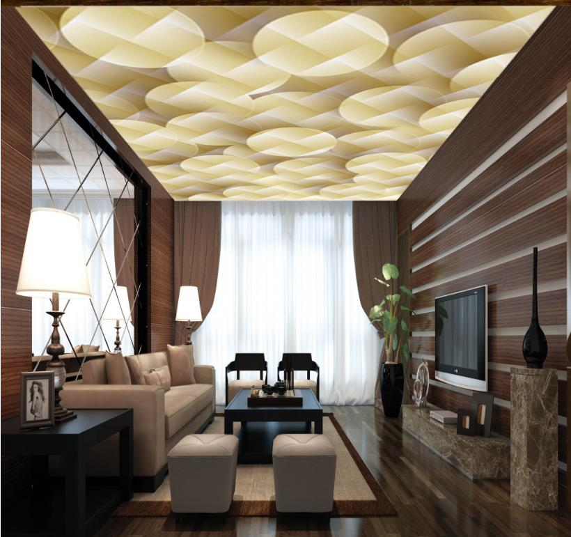 Customized European Style 3d Ceiling Photo Wallpaper Murals Art 3D Abstract Wallpapers For Living Room Bedroom Ceiling <br>