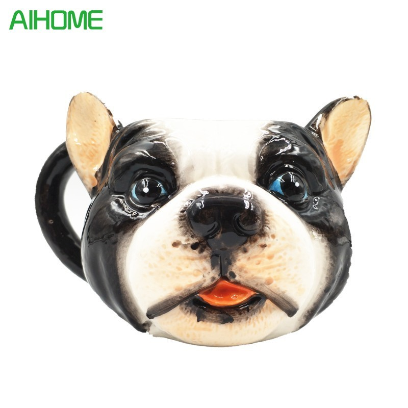 Novelty Creative Style New Coming 3D Animal Dog Ceramic Mug Cute Lovely Best Gifts Coffee Tea Juice Cup(China)