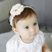 Our new hair sweet flowers lace hair band hundred years old sunshine headdress jewelry studio(China)