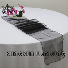Wholesale Organza Table Runner For Table Cloth Wedding Event Decoration(China)