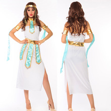 Egyptian Cleopatra Costume Sexy Greek Goddess Costumes Adult Halloween Costumes Queen Costume Cosplay Party Dress Game Uniform