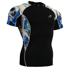 2017 Brand mens designer shirts male cool basketball skull printed tops clothing apparel for sports size s-4xl(China)
