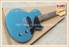 Custom Shop Cheap Price Junior Reissue LP Eelectric Guitar Sparkle Blue Finish Chinese Musical Instruments In Stock For Sale(China)