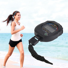 Sports Stopwatch Professional Handheld Digital LCD Sports Stopwatch Chronograph Counter Timer with Strap hot selling Wholesale(China)