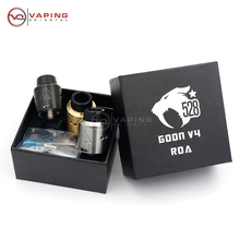 2017 Clone GOON V4 RDA Tank Vapor 24MM Rebuildable Dripping Atomizer Peek Insulator Airflow Control For Electronic Cigarette Mod