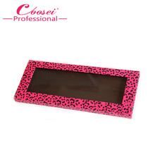 Empty Magnetic Eyeshadow Palette,Hot Pink Leopard Makeup Palette,Fill 12*36mm pans(China)