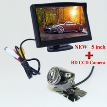 Waterproof Parking Monitors System, LED Night Vision 170 Car Rear View Camera + 5 inch Car Rearview Mirror Monitor Promotion