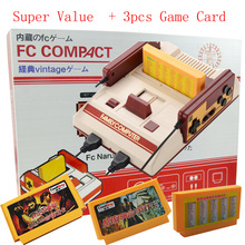 COOLBOY RS-35 TV Game Console nes Classic 8 bits Built in 232 games Gift 3pcs game card for kids game Game player